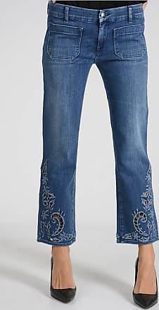 18cm Stretch Denim Embroidered Jeans Größe 29 The Seafarer