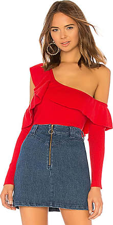 Ruffle Cut Out Sweater im Rot. - Größe L (also in M,S,XL,XS) Tularosa