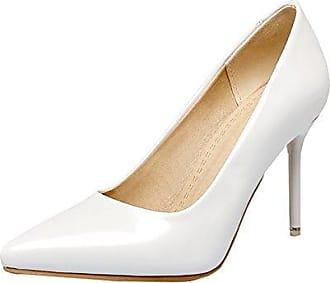 Damen High Heels Stiletto Lackleder Spitze Pumps mit 9cm Absatz Ohne Plateau Elegante Kleid Schuhe UH GKuftrCM8