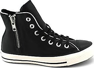White Eu black Converse Zip Ctas 001 Hi 37 Side snow Femme Sneakers Chuck black Basses Taylor Multicolore 7q7wpRA