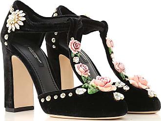 37 2017 Negro Terciopelo Gabbana amp; 36 Salón Zapatos Dolce Tacón Baratos De 5 Outlet 35 En Rebajas 7awFvqvx