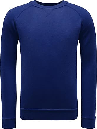 Cashmere Braun Hamburg Pullover R Blau neck hBdCotQxsr
