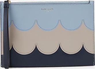 New York Kate Pochette Bleu Intaria Scallop Spade Cuir vmw0OyN8n