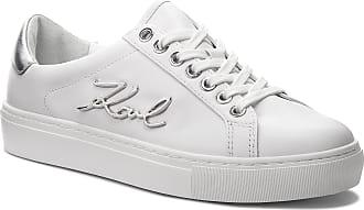 White Lthr Lagerfeld Kl61010 silver W Sneakers Karl B4zwnqOq