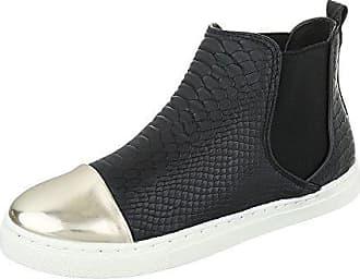 Ital SchwarzGr Damen design schuhe Komfort Stretch 36L6206 Stiefeletten DH9EIW2