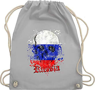Gym europameisterschaft Schädel Unisize Wm110 Bag Vintage Turnbeutel Hellgrau Shirtracer Russia amp; Fußball 2020 FwqFZBP