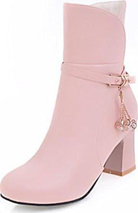 Modisch Riemen Top Stiefel 37 Ohne Damen Easemax Eu High Verschluss Kurzschaft Pink qZxCWSn5w