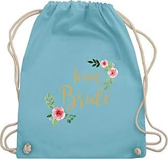 Gym Blumen Jga JunggesellinnenabschiedTeam Bride Shirtracer Bag Wm110 Vintage Unisize Hellblau Turnbeutelamp; IH29WDYE