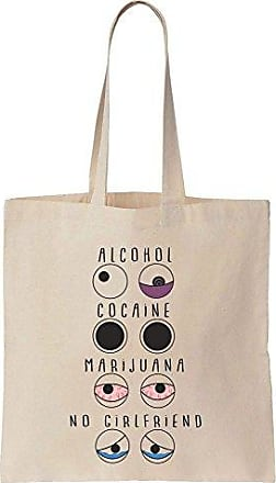 Prints Funny Einkaufstasche Bag Tote Finest Girlfriend EyesAlcoholCocaineMarijuanaNo Baumwoll Segeltuch lF1TKJc