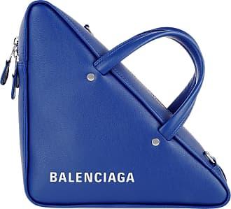 Shoulder Blue Bag Balenciaga Triangle Blau Umhängetasche Leather x7ZqzHwF