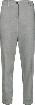 Trousers Gris Filippi Cuff Creased Fabiana Cropped wCpYqWH