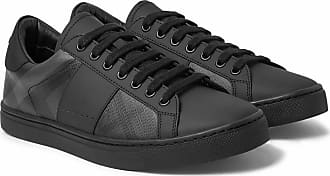Pvc Checked leather Burberry Rubberised Sneakers And Charcoal q5tIt