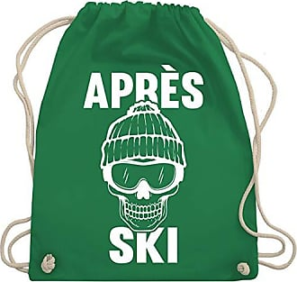 Shirtracer Unisize Après Turnbeutel Grün Ski Wm110 amp; ski Totenkopf Après Gym Bag a1raq67