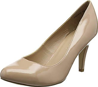 Cerrada Zapatos Tacón Mujer 6 Foot oatmeal 39 Look 14 Uk Eu Reanna Beige Con Wide De Punta New IBzq1n