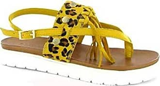 Scarpe Leopardato Pelle Inuovo yellow Donna 5144 E Giallo Sandali 1ttdY