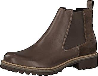 eu 25457 frauen Boots bootie Comb Chelsea stiefelette Stiefel Tamaris blockabsatz halbstiefel schlupfstiefel Damen 21 3cm taupe 39 hoch f7YgIbyv6