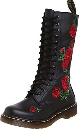 Boots8 Womens Leather Vonda Red Black DrMartens 14 Dr Eyelets Y7gf6yb
