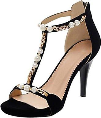 Und Damen Perlen Absatz 16cm Elegant Uh Mit Gltizer Sandalen Schuhe T1cJlKF