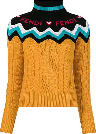 Fendi Fendi À Pull Orange Logo Pull zxw8T6qOT