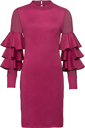 27ac675e7f6d Rosa Volangklänning Stark Lång Bodyflirt I Boutique Dam Ärm FwHqaP