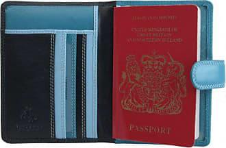 Rainbow Visconti mehrfarbig Case Multiblautöne Multicolor Leder Damen Passport Cover rb75blue Passhülle lZPkiuwOXT