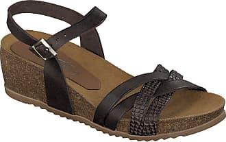 Mustang Braun Sandale Shoes Jeans Dunkelbraun wXgt7rXqy