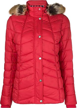 Hood Rouge Puffer Fur Jacket Barbour Trim 8qfxA8gT