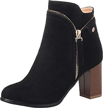 Und Reißverschluss High Aiyoumei Stiefeletten Absatz Damen Stiefel 8cm Blockabsatz Mit Klassischer Heels nxfqq0wTY