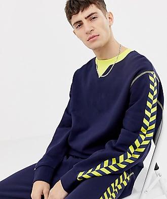 Jaunes Sweat Coupe À Navy Collusion Marine Classique Shirt Bandes 4ynrpp4 Bleu rpqrgw