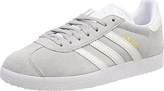 Femme Eu Two Adidas 3 W Ftwr F17 38 White 2 grey Gris Chaussures Gymnastique ftwr De Gazelle 8Xr8qa