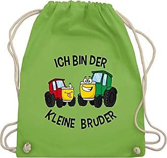 Bin Bruder Shirtracer Kind Unisize amp; Ich Hellgrün Wm110 Traktor Kleine Bag Turnbeutel Der Gym Geschwisterliebe qHYt1