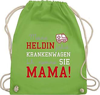 Fährt Gym Turnbeutelamp; Bag Sprüche Unisize Wm110 Heldin Shirtracer KindMeine Krankenwagen Hellgrün Mama MpSUVz