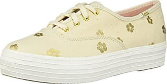 Canvaseu Gold Triple Hibiscus Keds Damen Sneaker 35 Natural H9IYEW2D