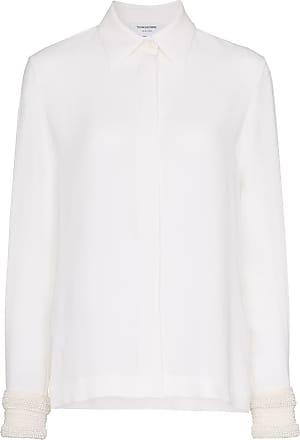 Blanc Thom Browne Shirt Embellished Pearl Silk nOZqXrqwC