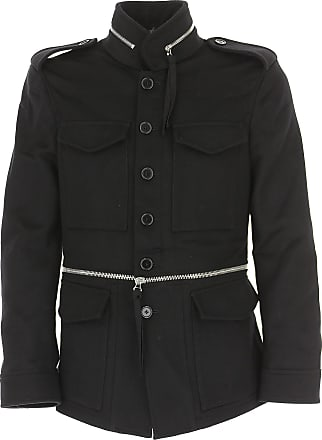 2017 Mens Alexander On M Outlet In Mcqueen Sale Black Coat Wool S4xRxwq