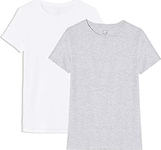 Fabricante white Del Con Cuello Grey Redondo Marl Gris Meraki Mujer 2 Lot Camiseta large talla Crew Xxx light 48 Pack De Neck nOnSgTAa