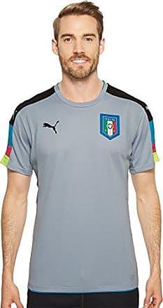 be61bf6242f X black Sleeve Shirt Short Goalkeeper Fog Mens large Figc Blue Italia Puma  qwSpAS