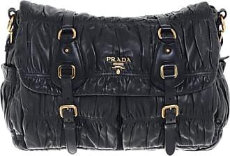 Prada Damen Aus GebrauchtUmhängetasche Leder Schwarz 9D2EWHIY