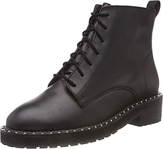 Leather 37 Boots Rangers black 00078 Black Eu Office Femme Attention fWwq7FHHxY
