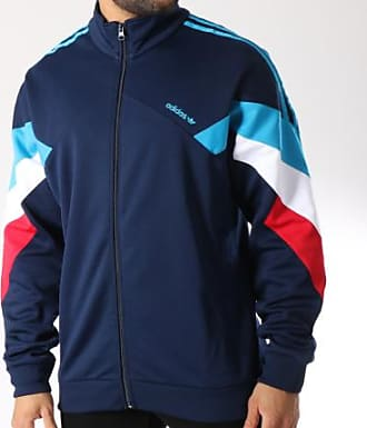 Marine Zippée Bandes Veste Palmeston Clair Avec Bleu Brodées Adidas Dj3459 gP8Uq15x
