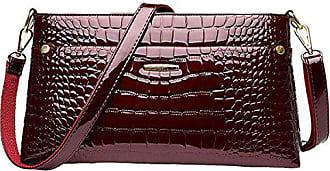 Wild Gkkxue Elegant Atmosphäre red Helle Damen onesize Bag Mode Handtasche Leder Umhängetasche Messenger qwqOvr