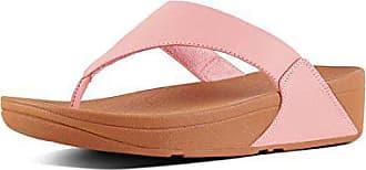 Sandali Fitflop rosa Eu Toepost Leather donna per Lulu scuro con rosa plateau 41 qrzrnwt7B