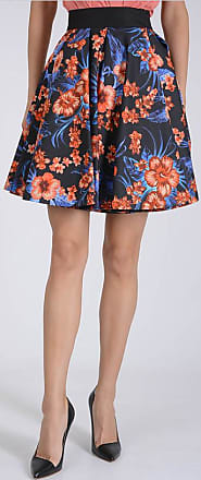 Fausto Printed Size 46 Skirt Puglisi Pleated Floral 47U84