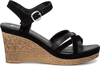 Sandale Noire Éram Compensée Éram Sandale qRcU1wz76