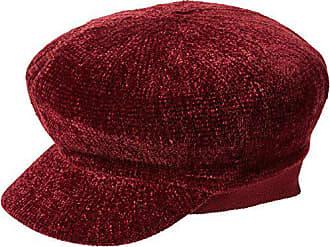 Donna dark Taglia Look Unica Cappello Red Porkpie New Chenille Burgundy Bakerboy X0qp11w