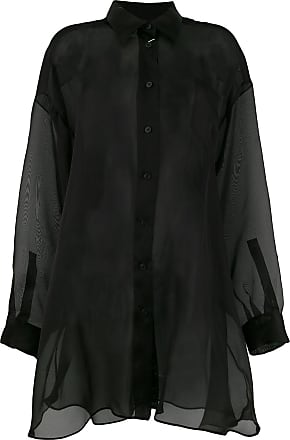 Maison Sheer Margiela Shirt Noir Button 66vwHArxq
