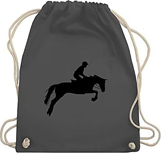 Unisize amp; Reitsport Turnbeutel Wm110 Shirtracer Springreiten Gym Dunkelgrau Bag EAfqv