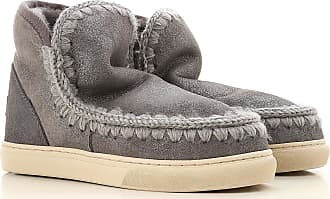 Grey 2017 Booties On For Boots Women Mou Wool 40 Sale FTxY8F