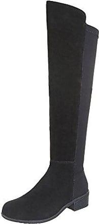 Flache Von Stiefel Design®Stylight Ital Damen In Schwarz kiuXTOPZ