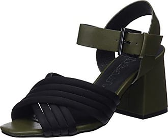 Eu Sixtyseven Kaky Sandales Femme kaki neoprene 39 napy noir Multicolore Cheville Berit Bride Negro Op1wxqrO